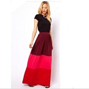 ASOS Melo color-block maxi skirt